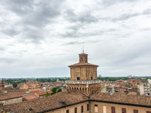 Estense Schloss in Ferrara, Italien Lizenzfreies Stockbild