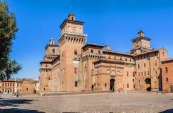 Estense-Schloss von Ferrara Emilia-Romagna Italien stockbild