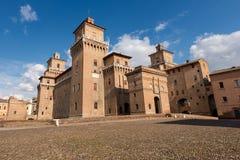 Estense slott - Ferrara Emilia Romagna - Italien fotografering för bildbyråer