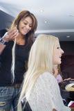 Estensioni 1 dei capelli Immagini Stock