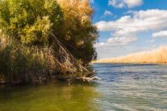 Estensioni del fiume di Astrachan' Fotografie Stock Libere da Diritti