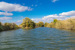 Estensioni del fiume di Astrachan' Fotografia Stock Libera da Diritti