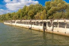Estensioni del fiume di Astrachan' Fotografie Stock