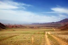 Estepa del resorte en Kazakhstan foto de archivo