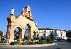 Estepa Gate and bullring in Antequera, Spain Stock Photos