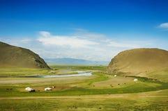 Estepa mongol Imagen de archivo libre de regalías