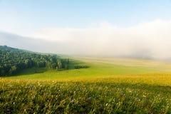 Estepa mongol por la mañana Fotos de archivo