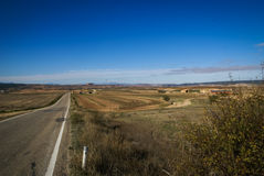 Estepas de Belchite, Zaragoza, Aragon, Spain Royalty Free Stock Image