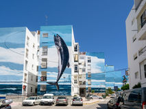 ESTEPONA, ANDALUCIA/SPAIN - MAY 5 : Fishing Day mural by Jose Fe Stock Photography