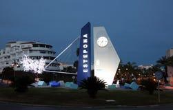 Estepona marina traffic circle, Spain Stock Photography