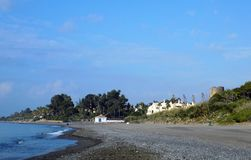 Estepona strand-Andalusia-Spanje stock foto
