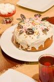 Ester cake. On festive table Royalty Free Stock Photo