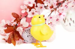 Ester composition with chick. Royalty Free Stock Photography