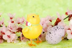 Ester composition with chick. Royalty Free Stock Photos