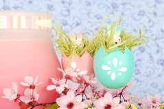 Ester composition with Easter egg Royalty Free Stock Photo