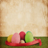 Ester egg vintage paper texture Royalty Free Stock Image