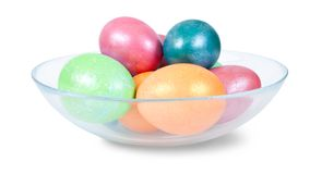 Ester eggs. Isolated over white with clipping path Stock Image