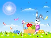 Ester, rabbit, eggs Stock Photography