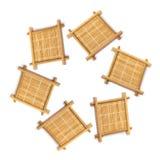 Estera de bambú de la taza Imagen de archivo libre de regalías