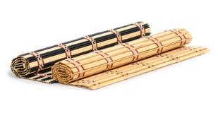 Estera de bambú natural fotografía de archivo