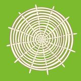 Estera de bambú redonda stock de ilustración