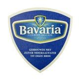 Estera de la cerveza de Baviera en un fondo blanco Foto de archivo