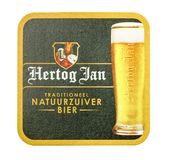 Estera de la cerveza de Hertog enero Fotos de archivo