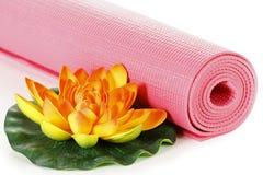 Estera de la yoga Foto de archivo libre de regalías