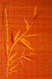 Estera de lugar de bambú con imagen handdrawn Foto de archivo libre de regalías