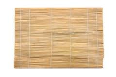Estera de madera. Foto de archivo