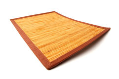 Estera de madera fotografía de archivo