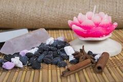 Estera a la práctica del zen Fotos de archivo