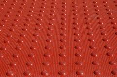 Estera Textured roja Fotografía de archivo