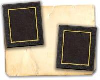 Esteras del cuadro en el papel viejo Fotografía de archivo