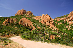 Esterel hills. In french riviera Royalty Free Stock Photo
