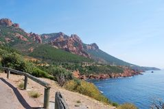 The Esterel Massif, France Stock Photography