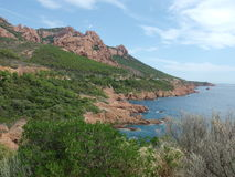 Esterel massif in provence Royalty Free Stock Image
