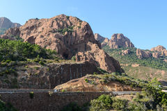 Esterel Mountain in France Royalty Free Stock Photos