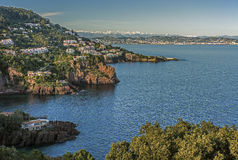 Esterel mountain on the French Riviera Royalty Free Stock Images