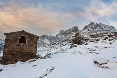 Esterel mountains under snow, france Stock Photo