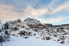 Esterel mountains under snow, france Stock Photography