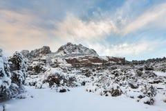 Esterel mountains under snow, france Stock Photography