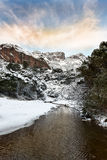 Esterel mountains under snow, france Stock Photos