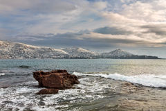 Esterel mountains under snow, france Royalty Free Stock Photography