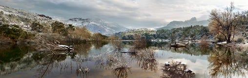 Esterel mountains under snow, france Royalty Free Stock Photos