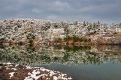 Esterel mountains under snow, france Stock Photos