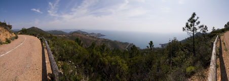 Esterel view. Beautiful panoramic view of provence, france Stock Image