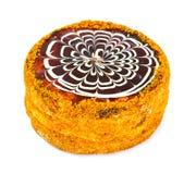 Esterhazy Almond Chocolate Cake on White Stock Images