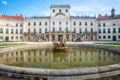 Esterhazy Castle and the fountain Stock Photos