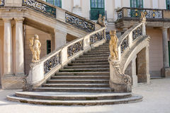 Esterhazy Castle -Stairs and the fountain Royalty Free Stock Photo